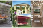 Gazebo coi pallet: arreda il giardino con queste strutture belle e resistenti