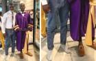 Han riskerar att inte få ta studenten på grund av sina skor, men en lärare lånar ut sina