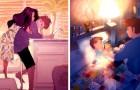 Questo artista racconta la sua vita quotidiana insieme alla moglie e ai figli con delle emozionanti illustrazioni