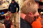 A soldier returns home after years and surprises his little brother: the moving video of their meeting