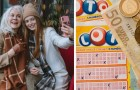 He gives his mother a birthday raffle ticket and she wins £ 10,000 a month for a full year