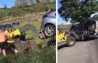 Sie parken ihr Auto vor der Einfahrt zu einem Grundstück: Der Bauer nimmt den Bagger und rächt sich