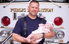 A firefighter helps a woman give birth and then adopts the baby girl: