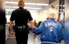 A generous cop goes to the aid of a 92-year-old man who is kicked out of the bank because his ID was out of date