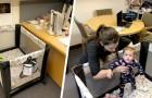 Profesor instala una cuna en su oficina para que la nueva madre pueda seguir las lecciones