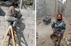 Tiene 4 hijos y no tiene dinero para pagar a los albañiles: mamá se arremanga y construye su casa ella misma
