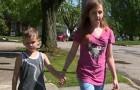 En elva år gammal tjej räddar sin 6-åriga lillebror från en främmande människa som försökte kidnappa honom medan de lekte tillsammans ute i trädgården