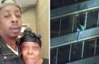 Escala 15 pisos de un rascacielos en llamas para salvar la vida de la madre postrada en la cama