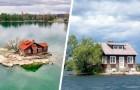 Esta isla es tan pequeña que solo puede albergar una casa y un solo árbol