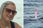 En gravid kvinna hoppar över gudstjänsten för att gå och simma med sina barn och det slutar med att hon räddar ett barn från att drunkna
