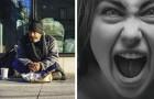 Zijn dochter beledigt een dakloze man: als straf dwingt hij haar te slapen in een tent