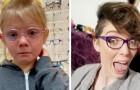 En flicka är ledsen över att hon måste skaffa glasögon så människor på nätet tröstar henne genom att visa sina