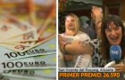 Anuncia en la televisión en vivo que se ha ganado la lotería y querer dejar el trabajo, pero luego descubre que el premio mayor es de 5.000 €