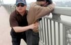 Este homem vigia a mesma ponte todos os dias: em 13 anos ele salvou mais de 300 pessoas que queriam pular