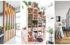 Séparez les espaces à la maison avec des solutions pleines de style, en utilisant des séparateurs créatifs