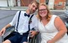Para los médicos ya no caminaría más o tendría hijos: el día de su boda está embarazada de 4 meses y recorre el pasillo