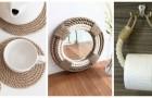 Utilisez la corde de façon créative pour décorer la maison avec de nombreux accessoires différents
