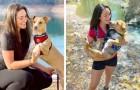 Sie fährt mit ihrem Auto in Gesellschaft des Hundes, den sie von der Straße gerettet hat, durch die USA: Sie sind unzertrennlich