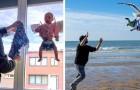 Vater schickt besorgte Fotos an besorgte Freundin, als sie fragt, wie es den Mädchen geht