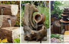 Vieux troncs et objets en bois : transformez-les en splendides fontaines avec ces idées de jardin