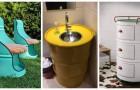 Bidons en métal : transformez-les en meubles super créatifs pour la maison et le jardin