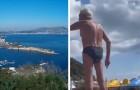 Ein Mann beschimpft zwei Mädchen am Strand, weil sie homosexuell sind: