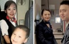 A 5 anni scatta una foto con un'assistente di volo: 15 anni dopo diventano colleghi e ne fanno una uguale