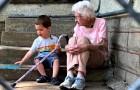 Un'anziana fa amicizia con il figlioletto del vicino e lo tratta come un nipote: