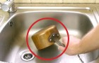 He puts an old copper pan in the sink. Seconds later it's... LIKE NEW!