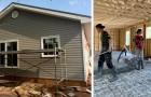 Famille sans abri vit dans la précarité dans un jardin : la communauté locale se porte volontaire pour leur construire une maison