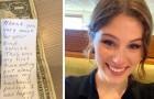 Cameriera si commuove leggendo il messaggio di una sua anziana cliente che si era presentata sola al ristorante