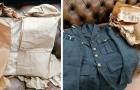 Trovano un pacco di carta mai aperto da 70 anni con un'uniforme da aviatore perfettamente conservata