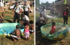 Een moeder lukt het niet het zwembad te vullen voor de verjaardag van haar dochter: de brandweermannen redden de dag