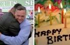 Responsable del negocio le compra la torta de cumpleaños a una clienta que no podía comprarla
