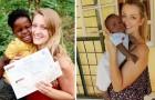 Hon lämnar sin pojkvän i Afrika för att adoptera ett barn som hon lärt känna 6 år tidigare på ett barnhem