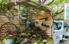 In Giappone i furgoncini diventano in poche ore degli adorabili giardini zen in miniatura