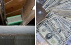 They find a hidden stash while renovating their house and discover a fortune totaling $45,000