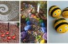 Utilisez les pierres pour décorer le jardin: de nombreuses idées créatives pour ajouter des détails sympathiques et colorés dans nos espaces verts