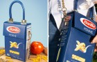 Sortie d'un sac en édition limitée identique aux paquets de pâtes Barilla