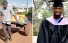 Arme jongen heeft kunnen afstuderen doordat hij samen met vader een waterkraam runde