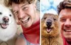 Jonge fotograaf sluit vriendschap en maakt leuke selfies met de dieren die hij over de hele wereld ontmoet