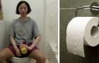 Ze weigert toiletpapier te kopen om geld te besparen:
