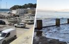 Er parkt seinen Van am Strand im Parkverbot und als er zurückkommt, steht er unter Wasser.