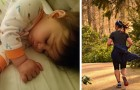 Mom goes for a run and leaves her small child alone at home: her husband calls her