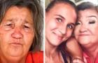 Nieta le regala a su abuela un cambio de look excepcional, haciéndola sonreír nuevamente