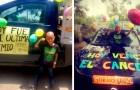 A soli 6 anni, questo bimbo sconfigge il cancro e celebra la fine della chemio: una festa liberatoria