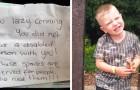 Ze weten niet dat haar zoon ziek is en laten een haatbrief achter op de auto die geparkeerd staat op de gehandicaptenplaats