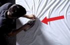 This artist will blow your mind, using just a sheet and an iron !