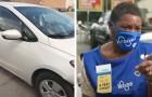 Dakloze vrouw die in haar auto woonde wordt aangenomen in een winkel: nu kan niemand meer zonder haar