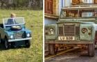 Un papà costruisce una piccola Land Rover elettrica per il suo bimbo di 4 anni e il risultato è sorprendente